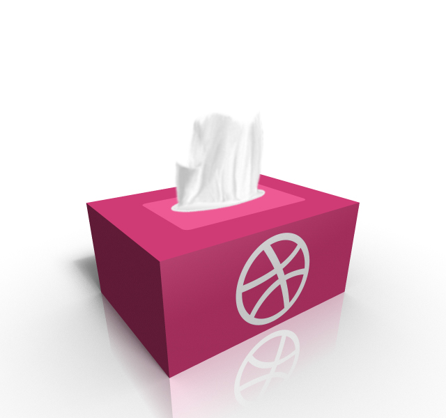 Dribble Tissue Box Packaging Design