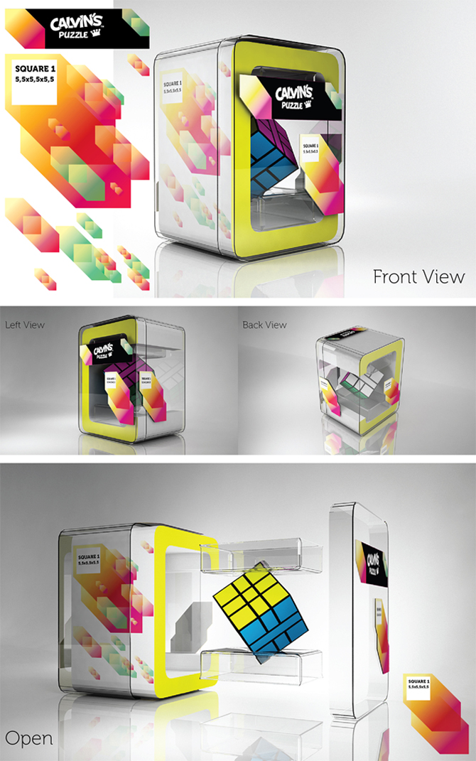 Calvin's Puzzle Box Packaging