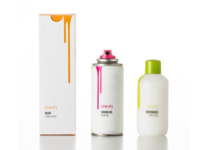 Drip Shaving series packaging Design