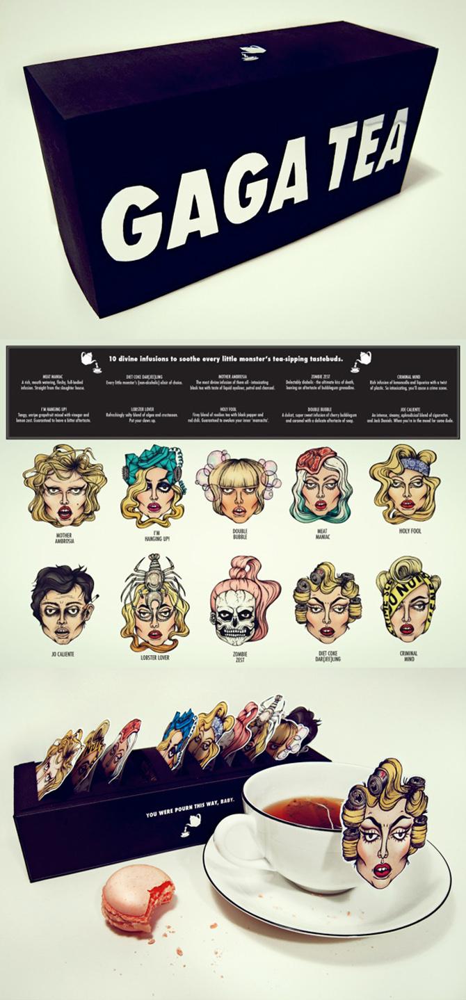Gaga Tea Packaging Design