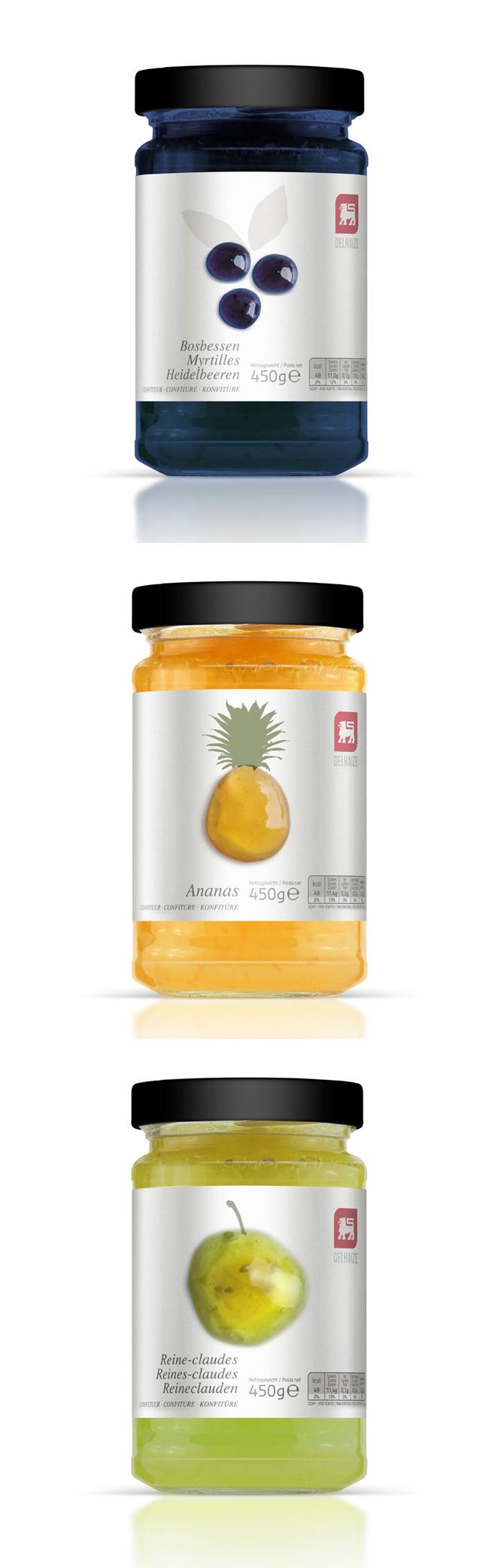 Delhaize jams Packaging design