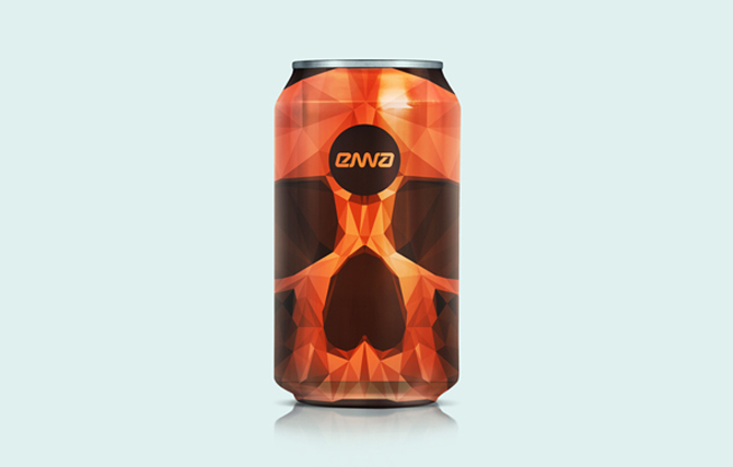 Enna energy drink packaging