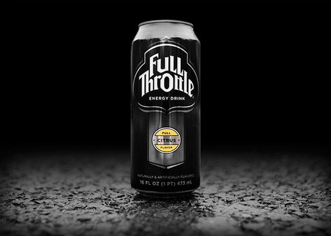Full throttle energy drink packaging