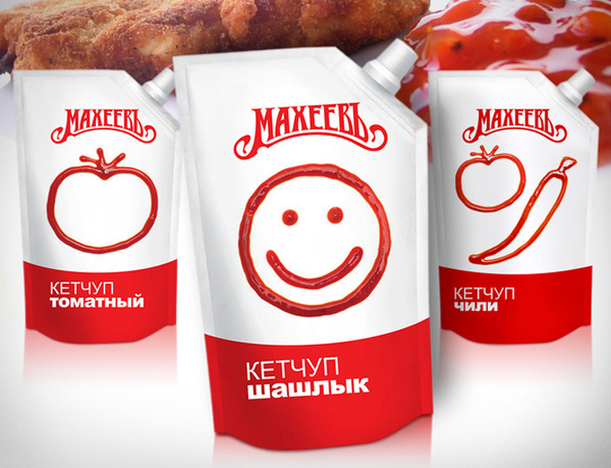 Smiling Ketchup packaging
