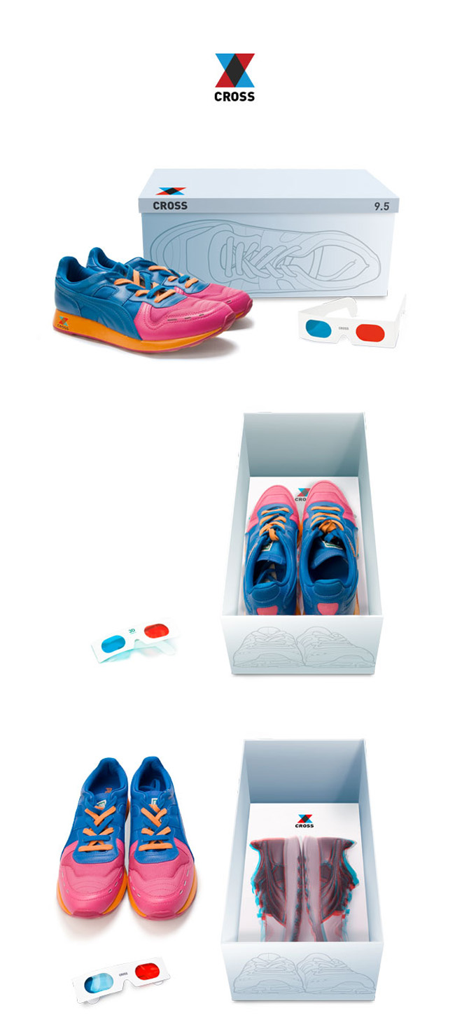 cross shoes packaging