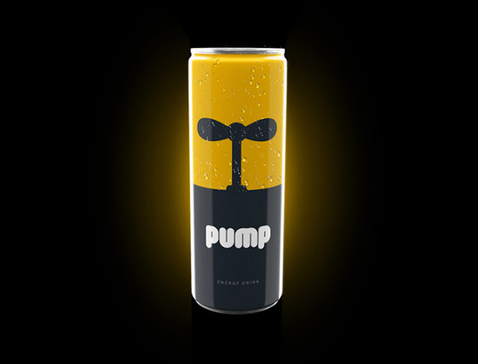 pump energy drink can