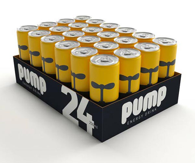 pump energy drink crate