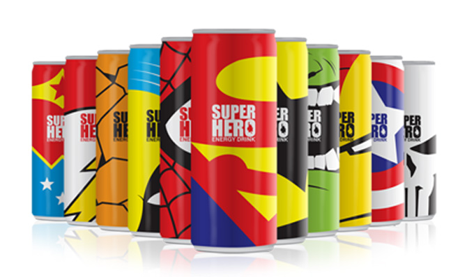 superhero packaging