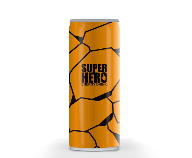 the thing energy drink packaging