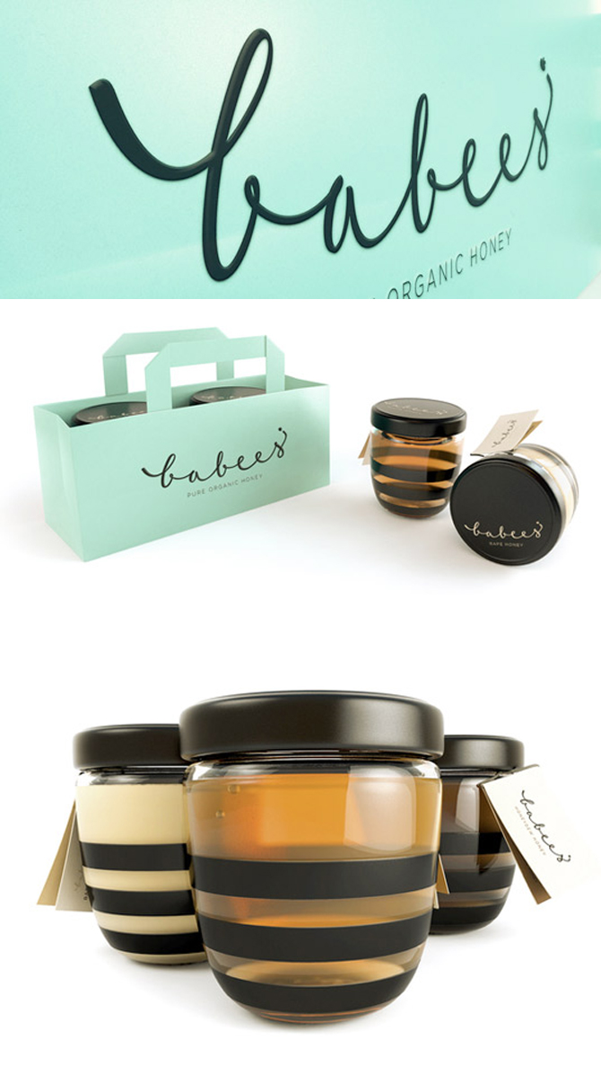 Babees organic honey packaging