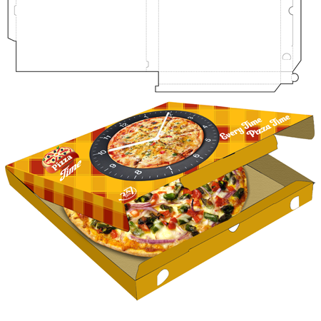 pizza box packaging template and logo we design packaging