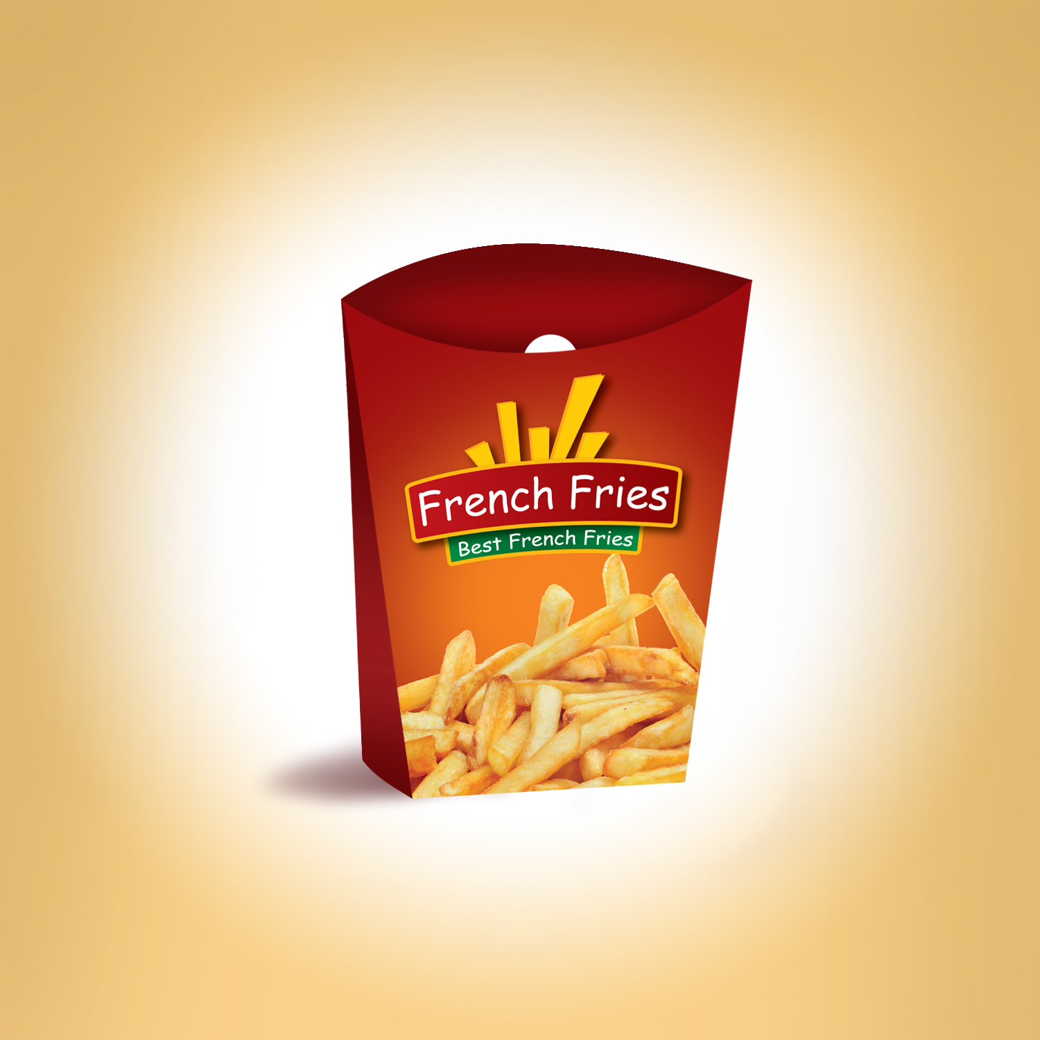 French Fries Packaging Template and Logo | We Design Packaging