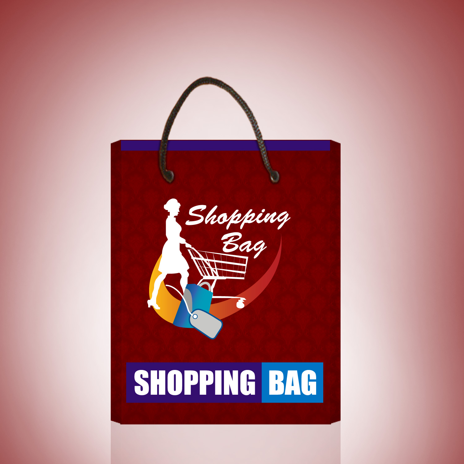 shopping bag packaging template and logo we design packaging