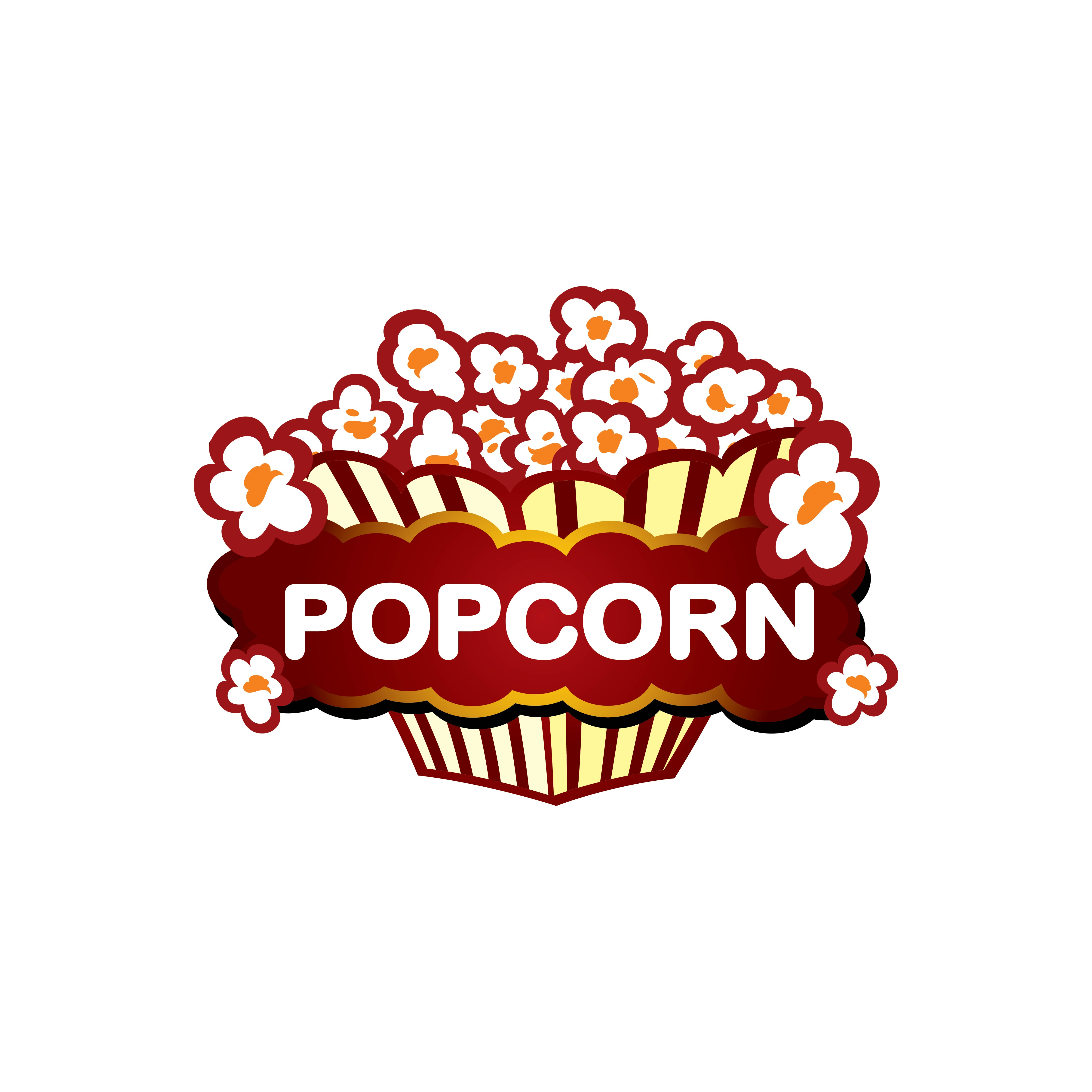 Popcorn Packaging Template And Logo